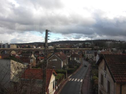 ヴェルサイユ行き列車からの眺め