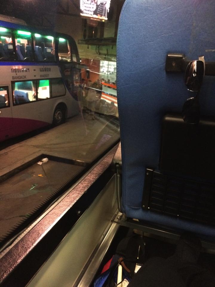 チェンマイ行きバスの中