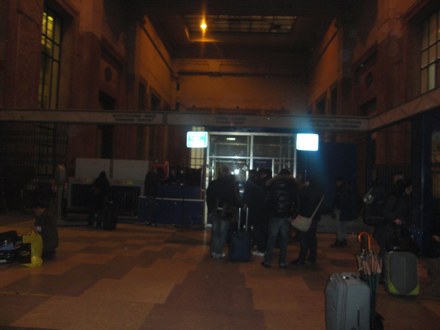ミラノ駅の荷物預かり所