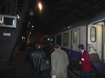 ミラノ発パリ行の寝台列車