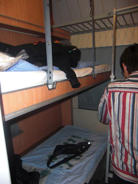 寝台列車の2人部屋