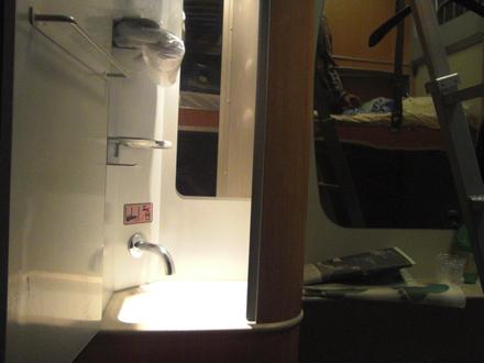 洗面台付き寝台列車