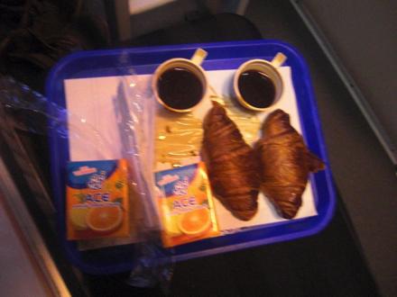 寝台列車の朝食サービス
