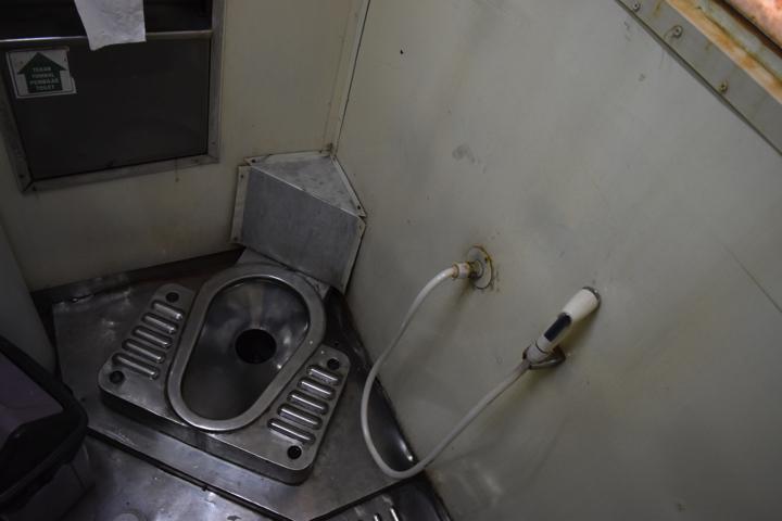 特急タクサカ号のトイレ